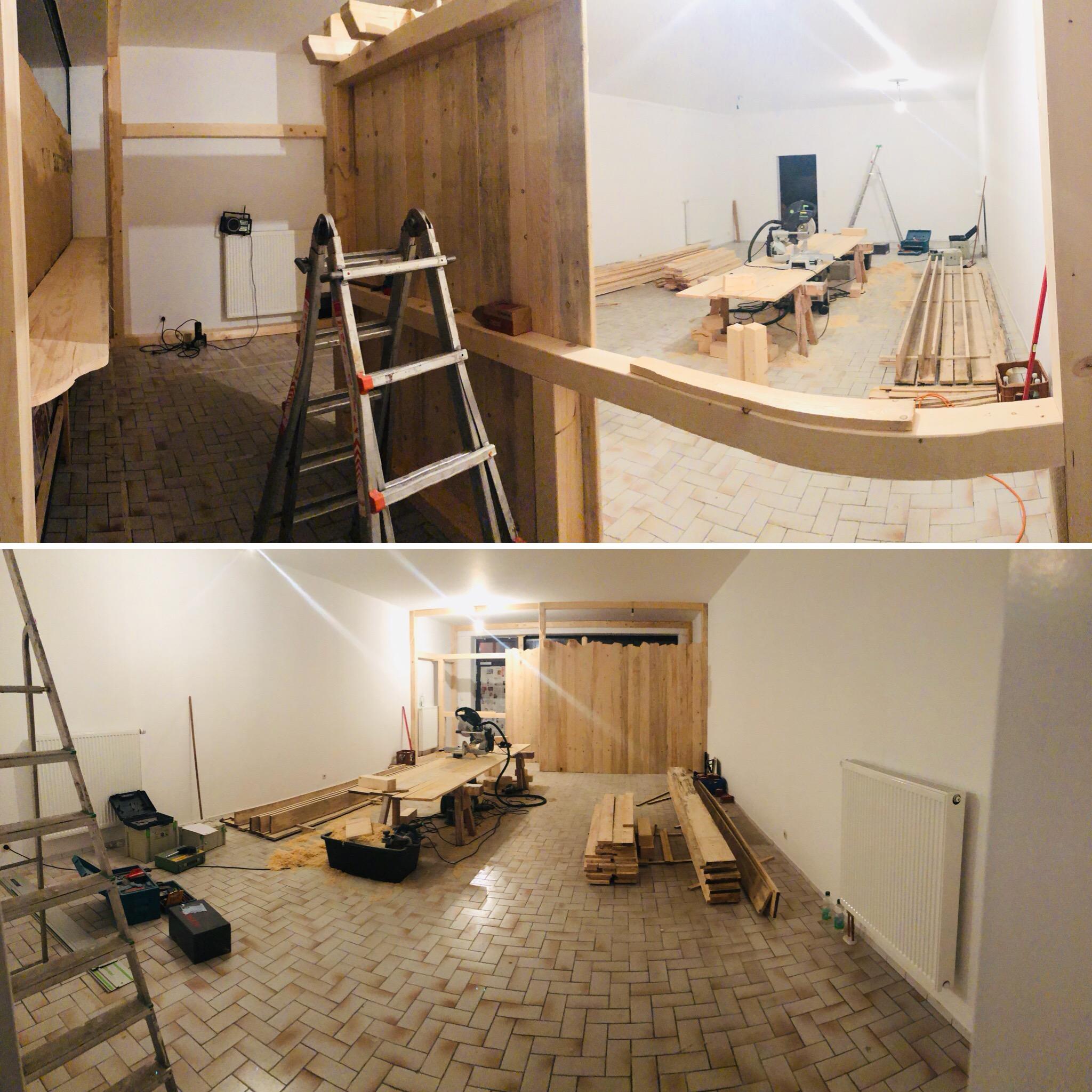 Bilder vom Umbau