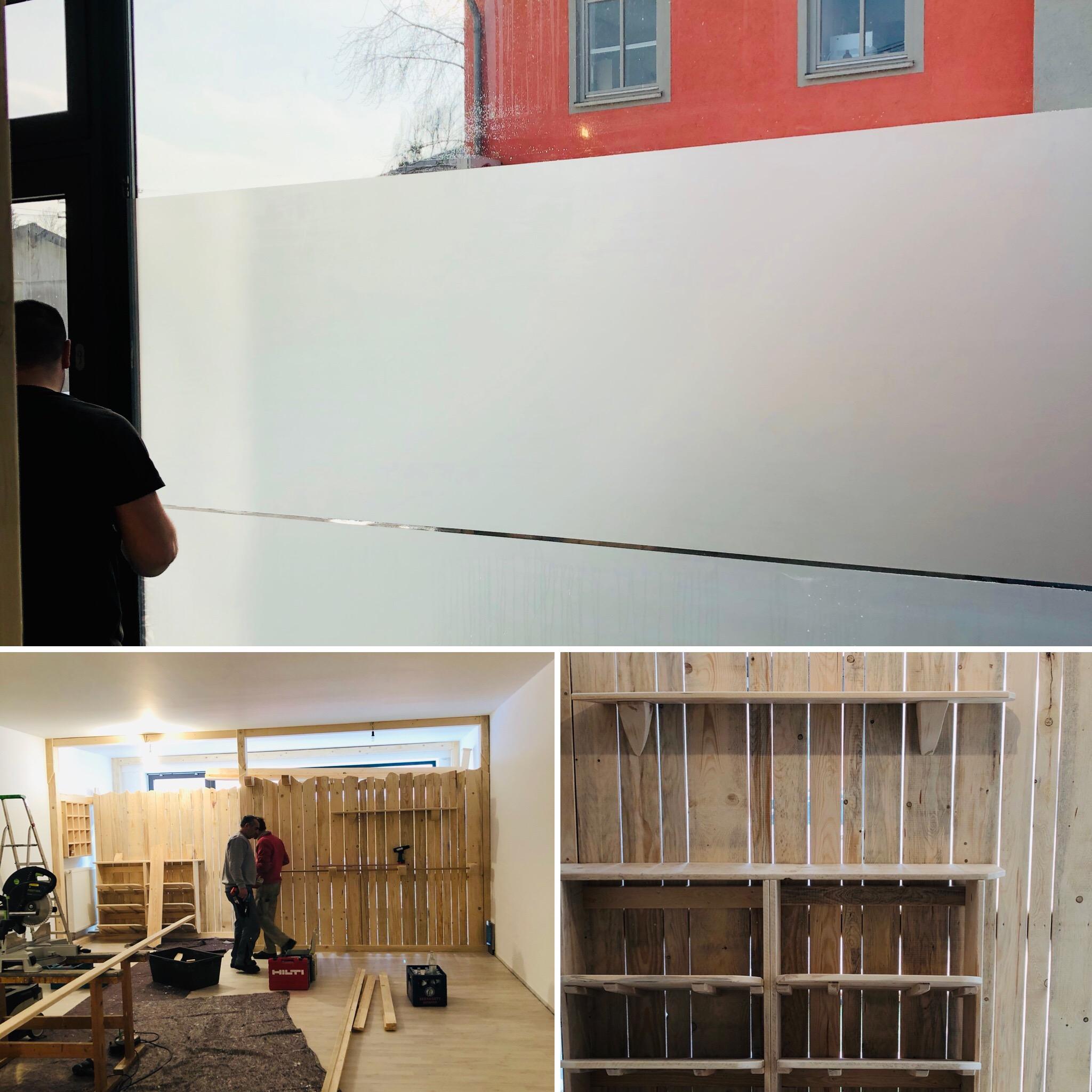 Collage vom Umbau